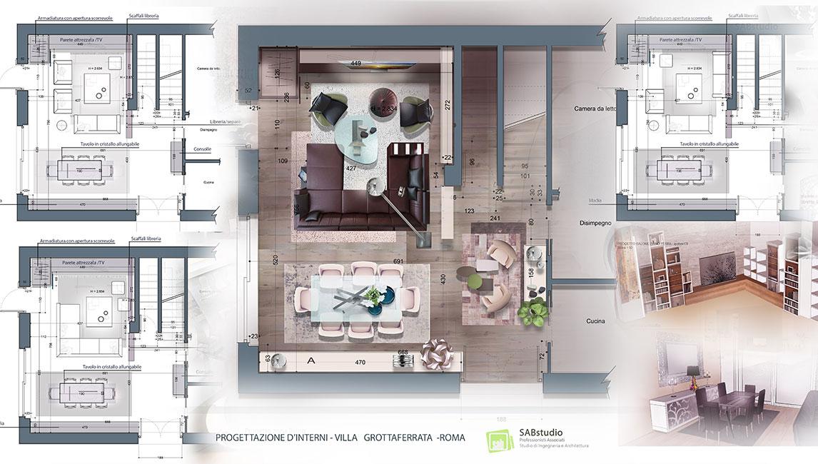 Portfolio sabstudio studio di ingegneria e architettura for Progettazioni interni